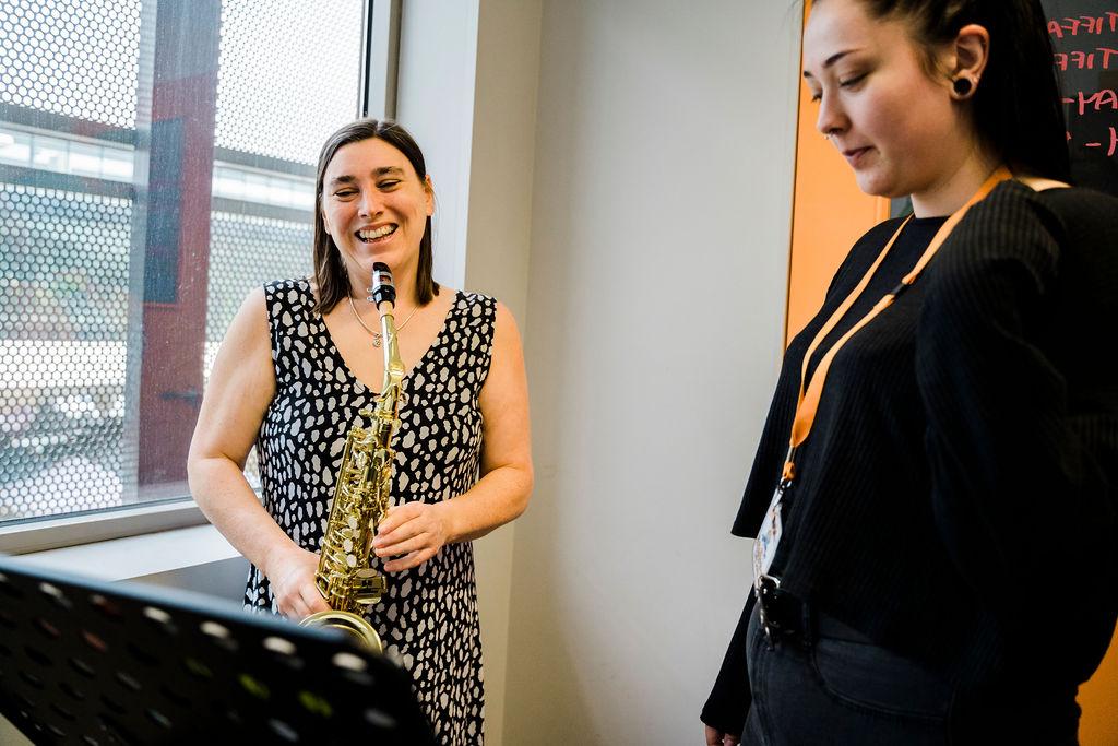 saxophone trumpet flute clarinet